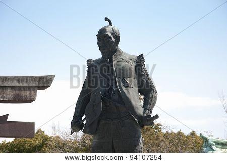 Toyotomi Hideyoshi Samurai Statue