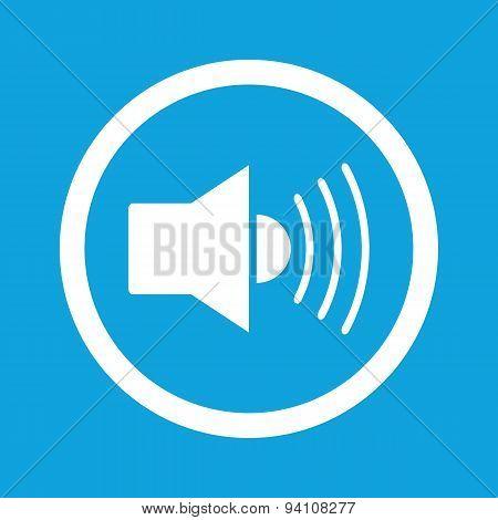 Loudspeaker sign icon