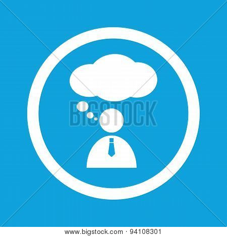 Thinking person sign icon
