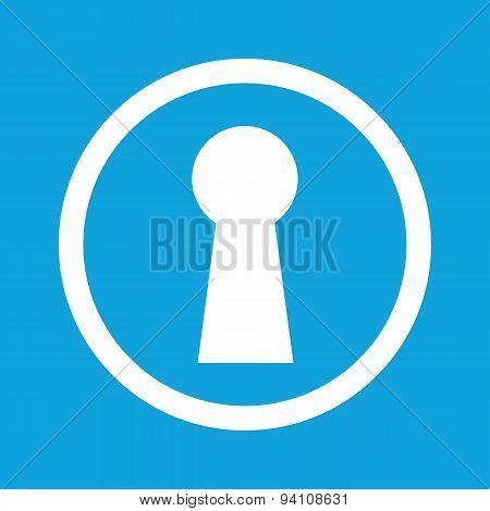 Keyhole sign icon