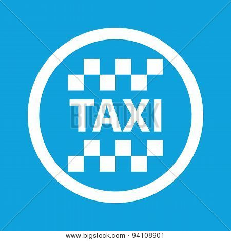 Taxi sign icon