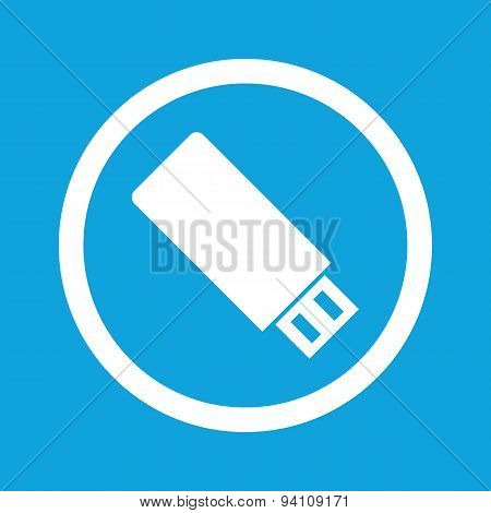 USB stick sign icon