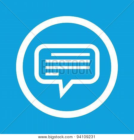 Text message sign icon