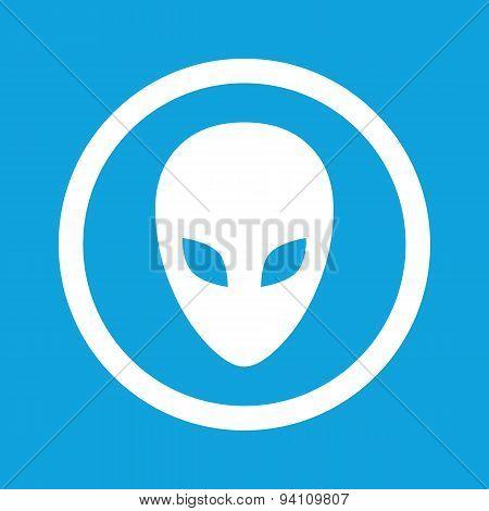 Alien sign icon