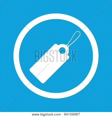 String tag sign icon