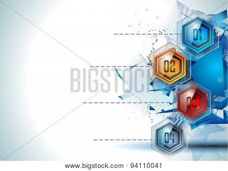 Infographic Abstract template with 4 choices glass buttons with shiny effect. Ideal for marketing and printed material, product classifications, ranking, business solutions