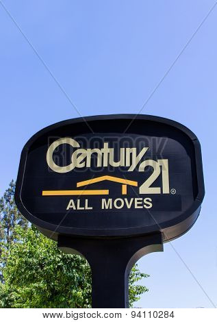 Century 21 Real Estate Sign And Logo
