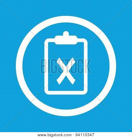 Clipboard NO sign icon