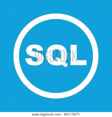 SQL sign icon