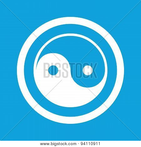 Ying yang sign icon