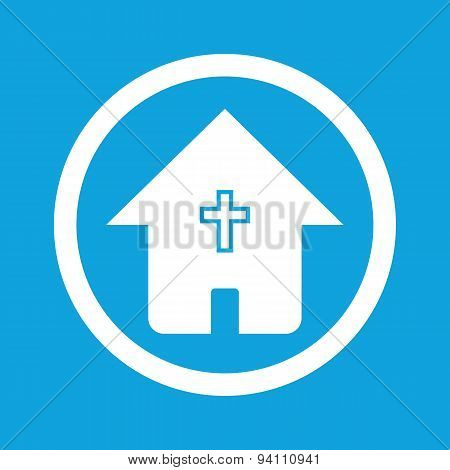 Christian house sign icon