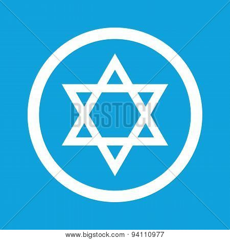 Star of David sign icon