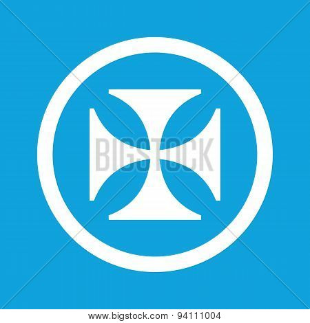Maltese cross sign icon