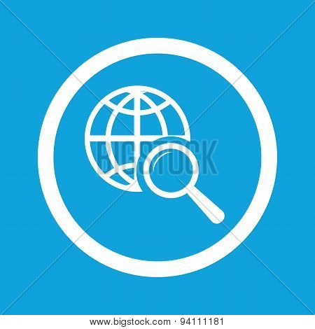 Global search sign icon