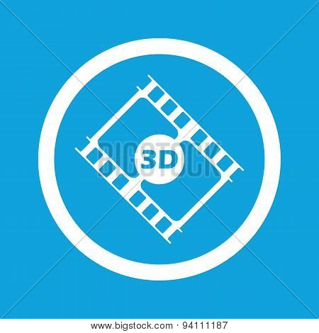 3D movie sign icon