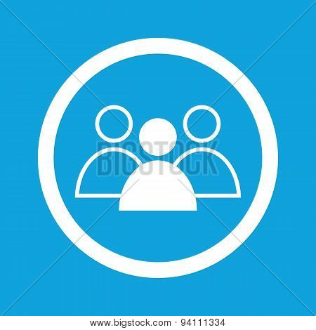 Group leader sign icon