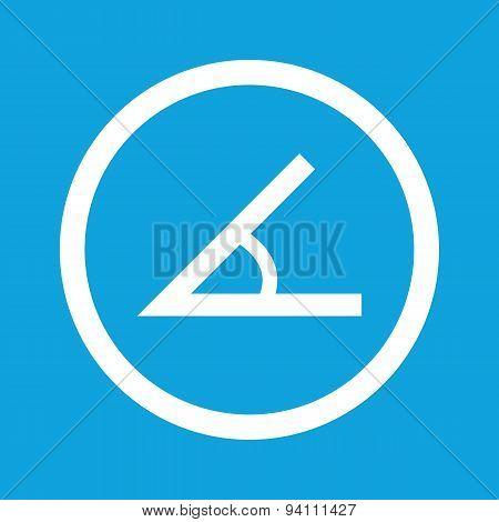 Angle sign icon
