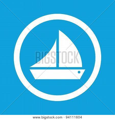 Sailing ship sign icon