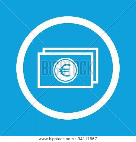 Euro bill sign icon