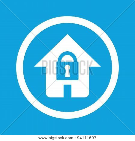 Locked house sign icon