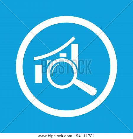 Graphic examination sign icon