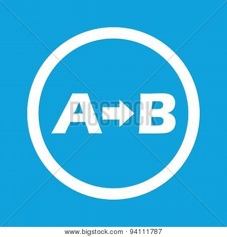 A to B sign icon
