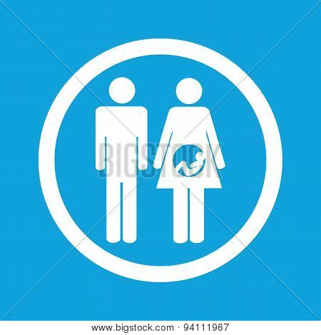Young family sign icon