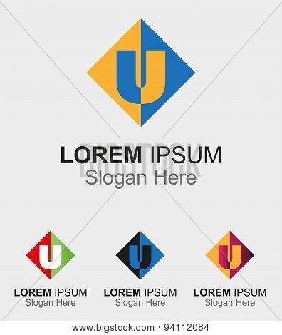 Letter U logo. Letter U logo company vector letter S icon