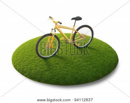 Bike on the flying island