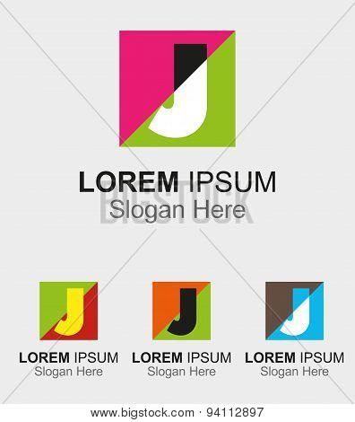 Letter J logo design sample icon
