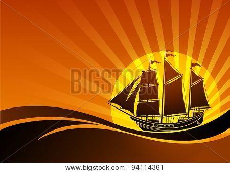 Sail Ship Background