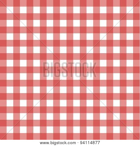 Red Plaid Pattern For Background