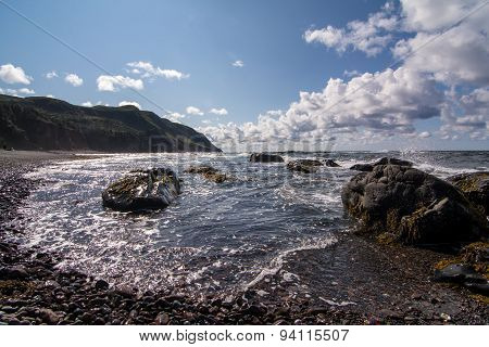 A rocky and rugged coastline in Gros Morne National Park in Newfoundland and Labrador Canada