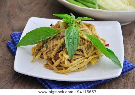 Bamboo Shoot Salad ,spicy  Thai Food.