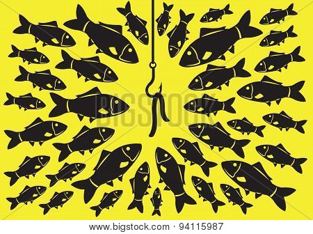Fishing Bait Vector Illustration