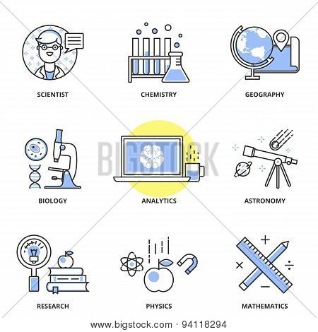 Science Vector Icons Set