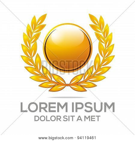logo market winner vector awards icon symbol champion