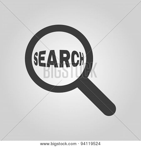 Search Icon. Magnifier Symbol. Flat