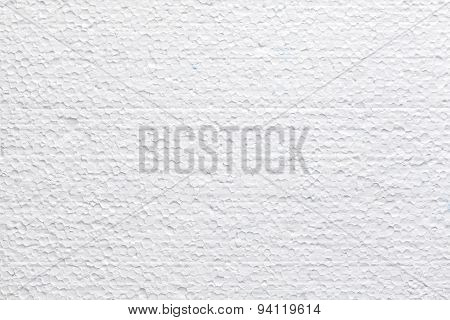 Polystyrene Foam Texture Or Background.