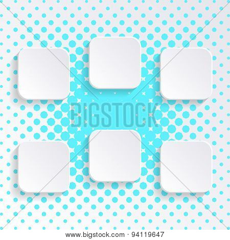 Blank White Square Buttons