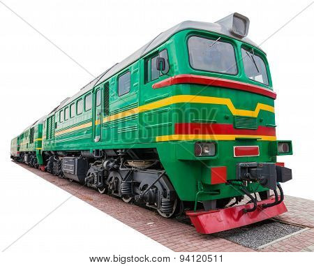 The Old Green Locomotive