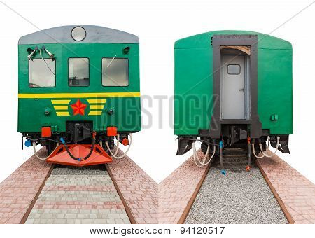 Vintage Train On A White Background