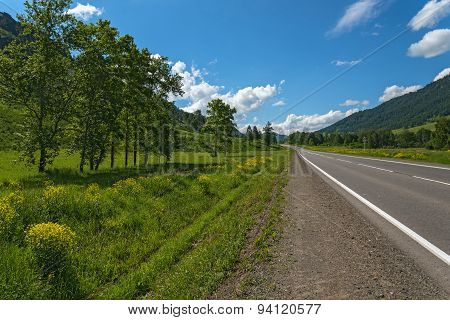 Road Mountains Sky Asphalt