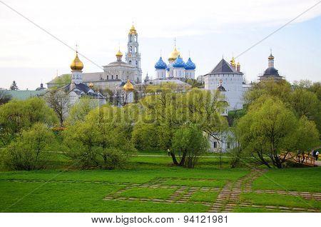 Lavra (trinity Sergiev Monastery) Front View, Sergiev Posad, Moscow Region, Russia