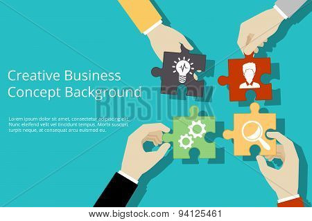 Creative business concept background