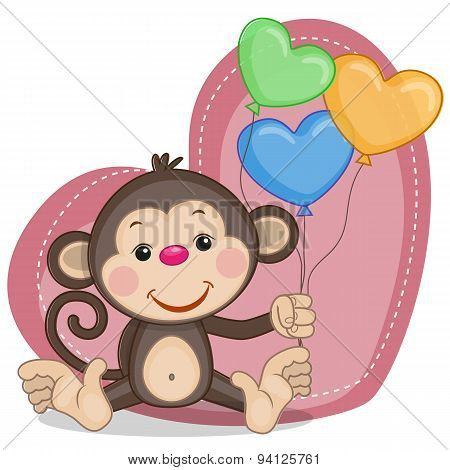 Monkey And Balloons