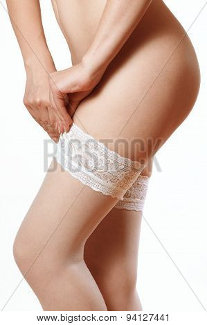 White Stockings With Lace