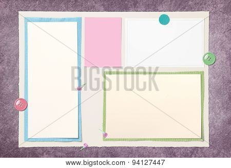 Blank Paper Page Layout On Old Floor For Put The Somthing