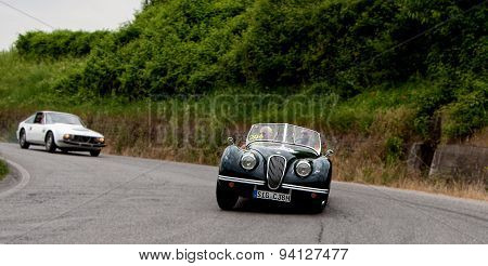 old car JAGUAR XK 120 OTS Roadster 1950  mille miglia 2015
