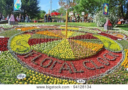Flower Exhibition At Spivoche Pole  In Kyiv, Ukraine